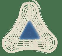 Image - Venus UniTab® Triangular Urinal Tab Blue Spice