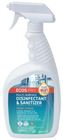 Image - Multi-Surface Disinfectant & Sanitizer, 32 oz., Fresh Citrus